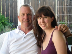 My dad and me. (Hey Dad, we need to take a more updated picture. This is from 2009).